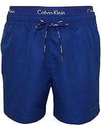 Shorts De Bain Calvin Klein Double Ceinture Hommes, Bleus