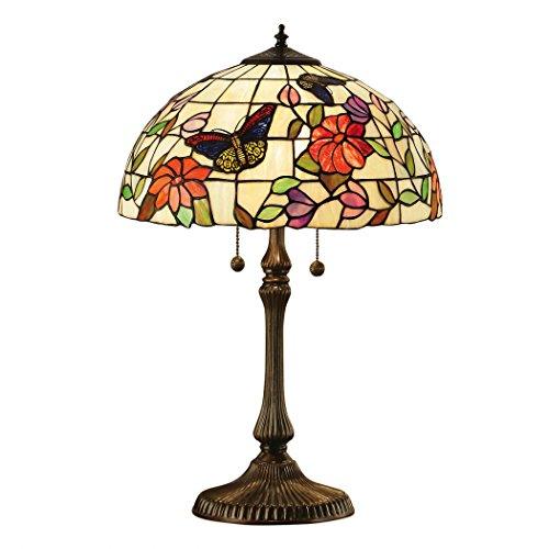 Schmetterling Medium Tiffany Stil Tischlampe - Interiors 1900 63997 (Tischlampe Bronze Schmetterling)