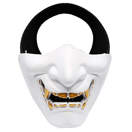 YEGEYA Halloween Maske Horror Ghost Halbe Gesichtsmaske Adult High Purity Resin Cosplay Kostüm Requisiten (Color : White, Size : - Cosplay Kostüm Astrid