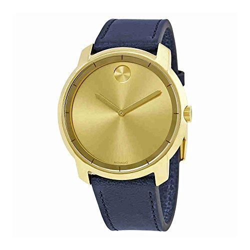 Movado - Reloj para hombre con esfera de oro amarillo 3600469