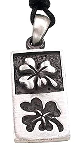 Llords Schmuck Halskette mit keltischem irischem vierblättrigem Kleeblatt Anhänger, feinster Zinn Metall Modeschmuck