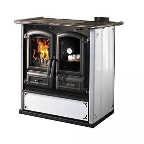 cucina a legna 350 steel bianco puntinato