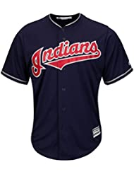 Majestic cleveland indians de maillot alternatif de baseball mLB cool base bleu marine