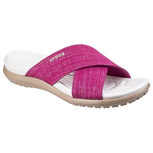 Outdoor-womens Capris (crocs Womens/Ladies Capri Shimmer X Band Casual Summer Sliders Sandals)