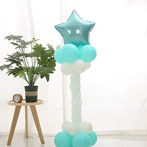 raße Führt Ballon Säule Hochzeit Website Dekoration Party 130cm Blue Star ()