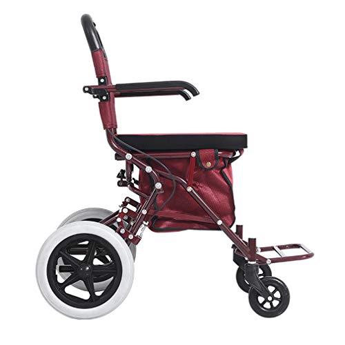 Drive Medical Roll Walker Faltbare, Junior Rollator Walker Mit Sitz, 4 Räder Mobilität Gehhilfen Doppelbremssystem, Benutzt Für Senioren Wandern,Red -