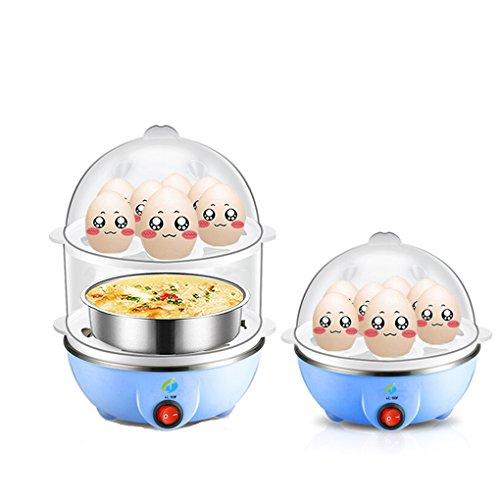 Foto de HJL-SHOP Sartenes para escalfar huevos, cocedor con capacidad para1-14 huevos (Azul)