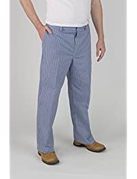 Chefs atención Unisex azul Check Chef pantalones