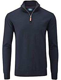 Charles Wilson Men's Essential Cotton Blend Zip Neck Jumper