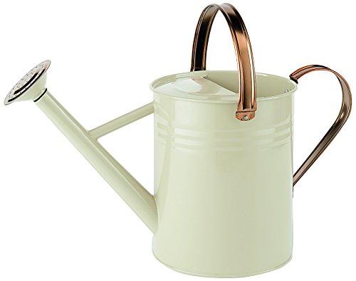 Regadera de metal de color crema de 4,5 litros (1 galón)