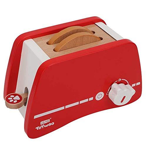 Tnfeeon Hölzerne Spielküche Set Spielzeug Pretend Play Kochen aus Holz Pop up Toaster Spielzeug Küche Brotbackautomat Set für Kinder im Vorschulalter(Toaster)