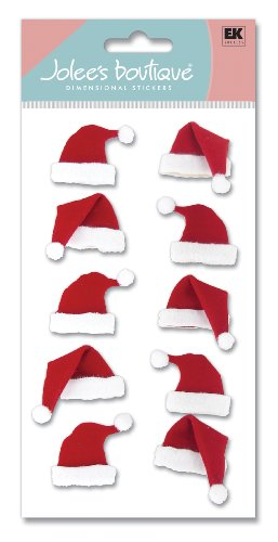 Jolee's Boutique Dimensional Stickers, Santa Hats by