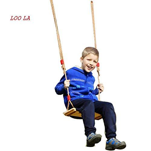 Xiao Fan Holzschaukel for Kinder, hängen Sie Diese verstellbare Holzschaukel for Kinder von Ihrem Lieblingsbaum im Freien oder hängen Sie sie von der Decke Ihres Kinderzimmers in Innenräumen auf/Kla