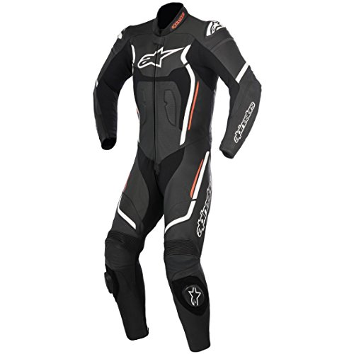 Alpinestars Motegi V2 1Pc Leather Suit Nero Bianco Rosso Fluo 54