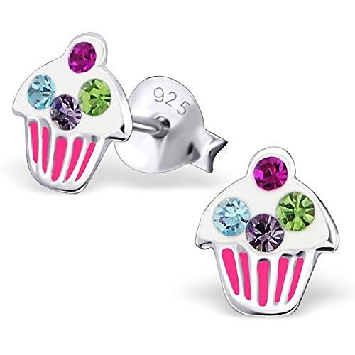 jayarer-kinder-ohrringe-muffin-cupcake-8-x-7-mm-emaille-glitzer-kristalle-925-sterling-silber-mehrfa