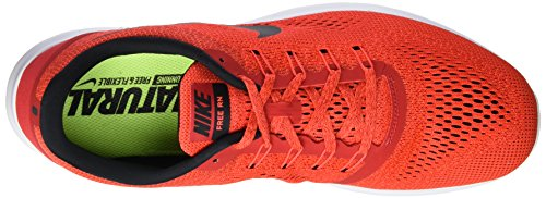 Nike Free RN, Chaussures de Running Entrainement Homme Rouge (Rouge/Noir/Blanc)