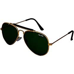 Silver Kartz Green G-15 Stylish Double Bar Aviator Sunglasses (wc162)
