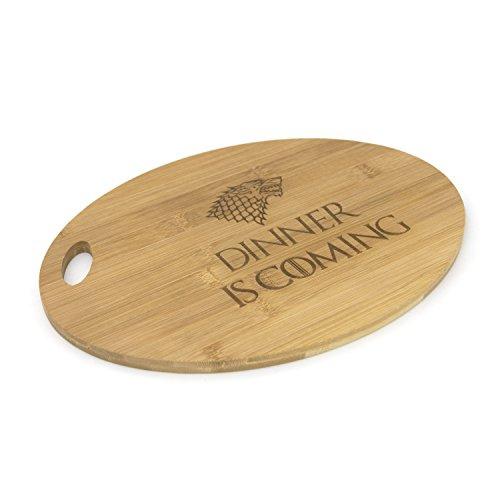 Game of Thrones inspiré–Dinner IS Coming–et servir les planches à découper en bambou gravé Cadeau, Bambou, Dinner is Coming, Oval Shape