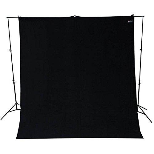 Westcott Hintergrundstoff 270 x 300 cm - Schwarz - für Foto und Video verwendbar mit Hintergrundsystem Fotohintergrund Stoffhintergrund (Stretch-vinyl-stoff)