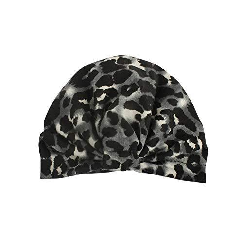 Zegeey Baby Kleinkind MäDchen Jungen Geknotete MüTze Beanie Headwear Leopard Cap HüTe MüTze(Grau)