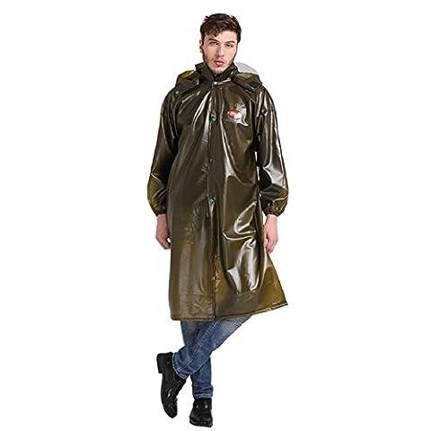 ZC&J Outdoor translucent brown raincoats, outdoor waterproof hiking poncho plus