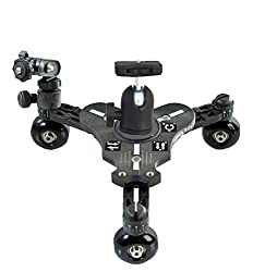 New Flyfilms 3-Wheel DSLR Table Skater Dolly (FF-RCB-BL) for DSLR DV Camera Nikon Sony Canon Video Movie Shooting
