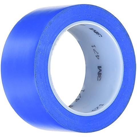 3 M 471/50 X 33 cm, colore: blu-BLU-Nastro adesivo segnaletico, 50 mm X 33 m