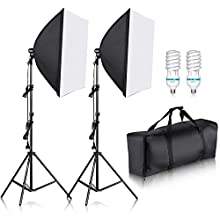 """'Neewer® 700W photography 24 x 24"""" / 60x60 cm soft box with E27 base light lamp kit for PhotoStudio, portraits, product photography and video recording."""