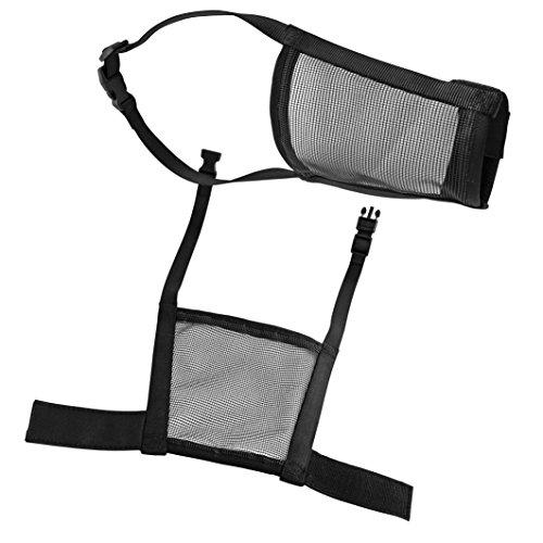 CHAPUIS SELLERIE SLA600 Bozal ajustable para perro - Nailon negro - Contorno del hocico 14-18 cm - Contorno del cuello 25-40 cm - Talla M