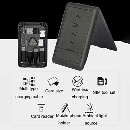 Lukame Tragbare Aufbewahrungstasche Tragbare Aufbewahrung Universal Wireless Charger Multifunktions-Aufbewahrungstasche aus Kunststoff(schwarz) -