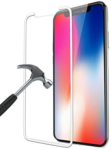 Bovon iPhone X Panzerglas, Schutzfolie [3D Vollständige Abdeckung] [9H Härte] [Ultra Clear], Anti-Kratzer, Blasen, Tempered Displayschutzfolie für iphone X [2017] (Weiß) Test
