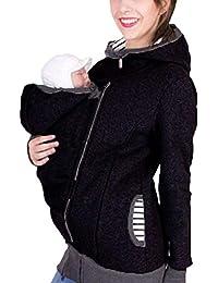 3 in 1 Veste De Portage De Bébé pour Femme Et Bébé Veste De Maternité Veste  De Kangourou Kangourou Noir Porte-Bébé pour Femme… 99a593c37d7