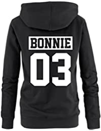 Hoodie Pullover Bonnie Clyde Motiv Partnerlook Top One love
