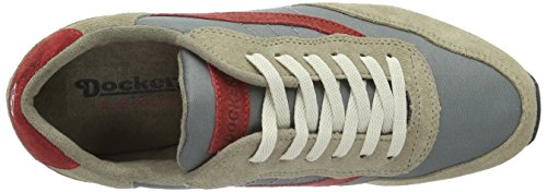 Dockers by Gerli 39cz202-207432, Baskets Basses Femme Gris (Taupe/grau 432)