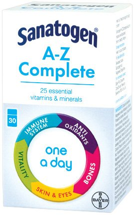 Sanatogen Gold A-Z MultiVitamin & Mineral Supplement Tablets One-A-Day 30 Tab...