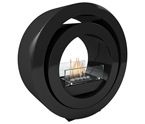 Imagin Globus Black Free Standing bioethanol Fireplace, 79cm x 79cm x 25cm