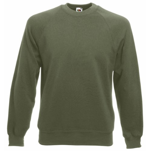 Fruit of the LoomHerren Sweatshirt, - Classic Olive, M Classic Ribbed Pullover