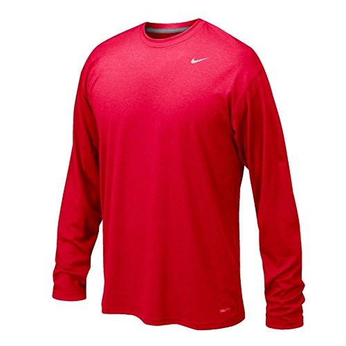 Nike Legend Dri-Fit Long Sleeve Tee T-Shirt Training Rot