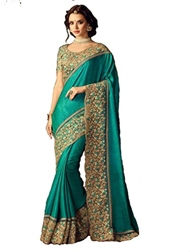 I-Brand Women's Tassar Silk Saree (Isunsa2362-Ib_Green)