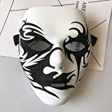 Chakil Halloween-Maske Ghost Dance Full Face Mask Cosplay Kostüm Game Party Halloween 2 Balck and White