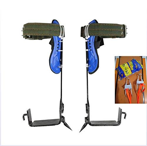 ZLQF Stöcke zum Klettern, Rutschfest Baumsteigeisen Kletterhilfen Forstzubehö,Einfach Zu Bedienen,B+Seatbelt