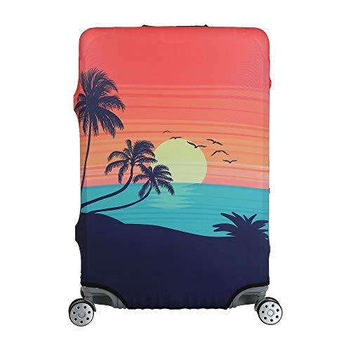 Herrmannz Kofferschutzhülle - elastisch robust strapazierfähig mit 4 Öffnungen und verdeckten Reißverschlüssen an beiden Seiten - extra dick