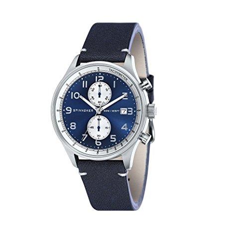 Armbanduhr Herren Chrono sp-5050–02Spinnaker Doppel Armband Leder und NATO Chronograph