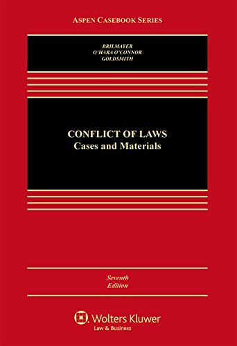 Conflicts of Law: Cases and Materials (Aspen Casebook) by R. Lea Brilmayer (2015-02-23)