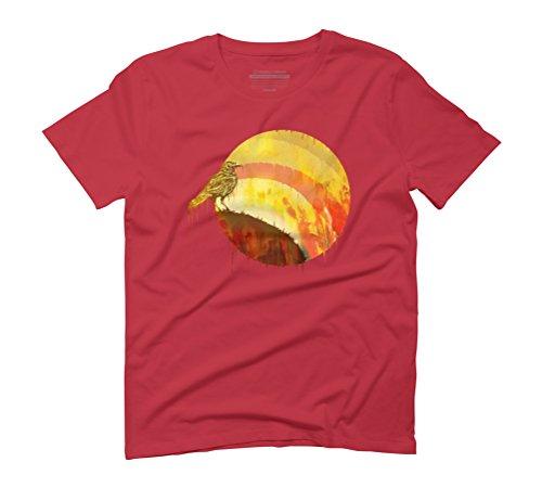 SUNSET SPIRIT Men's Graphic T-Shirt - Design By Humans Red