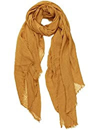 World of Shawls Chic Ladies Crinkle Distressed Effect Scarf with Fringed Edges