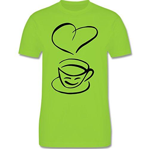 Küche - I Love Coffee - Herren Premium T-Shirt Hellgrün