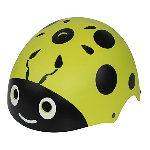 TZTED Helm für Kinder Marienkäfer-Helm Rollschuhlaufen Helm Kinder Fahrradhelm,Yellow,S