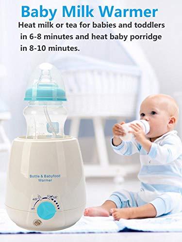 Leiyini Babyflaschenwärmer Babymilchwärmer Mehrzweck-Babykostwärmer mit Sterilisationsmodus Flaschen-Dampfsterilisator und Babykostwärmer für Muttermilch oder Milchnahrung
