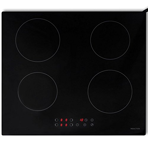 Festnight Einbau-Induktionskochfeld Kochfeld mit 4 Kochplatten Touch-Steuerung Timer 6400 W